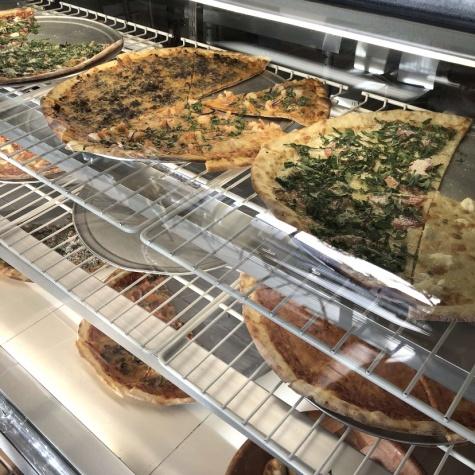 LaRocco's New York-style pizza.